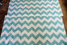 Easy Chevron Curtains