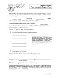 Request Reference Letter Reference Letter Request Form In Word And Pdf Formats
