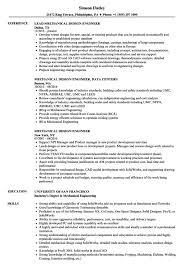 Mechanical Design Engineer Resume Samples Mechanical Design Engineer Resume Sample Resume Sample