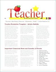 Monthly Newsletter Template For Teachers Free Printable Monthly Newsletter Templates For Teachers