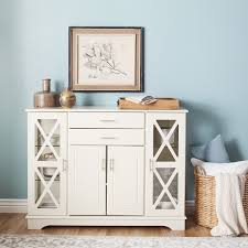 Simple Living Antique White Kendall Buffet - Free Shipping Today -  Overstock.com - 15647392