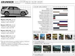 4th Gen 4runner Color Chart Toyota 4runner Forum Largest