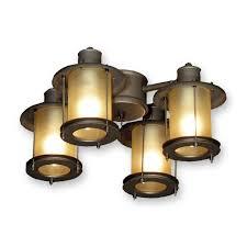 fl450 rustic ceiling fan light kit antique bronze