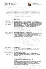 Community Relations Manager Nevada & Northern California Resume samples