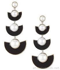 kate spade new york taking shapes half moon linear drop statement earrings 51450730268 gold black