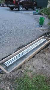 now you can install a trench drain in