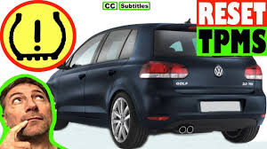 How To Reset Tire Pressure Light On Vw Golf How To Reset Tyre Pressure Light On Vw Golf