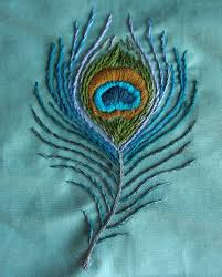 Embroidery Feather Designs A Peacock Feather Design I Made And Embroidered For A Purse