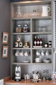 modern gray coffee station