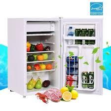tiny refrigerator office. White Single Door Compact Small Refrigerator Freezer Office Home Fridge 3.2cu.ft Tiny