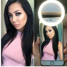 Flawless Lighting Clip On Selfie Ring Light In 2019 Led Selfie Ring Light