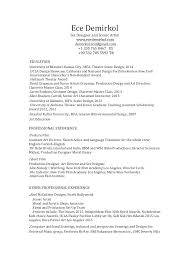 production artist resume set designer resume