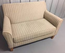 next alfie 2 seater love seat sofa snuggle seat striped chenille new