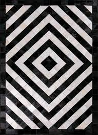henley by mosaic rugs luxury handcrafted black white patchwork cowhide rug modern geometric pattern art deco design