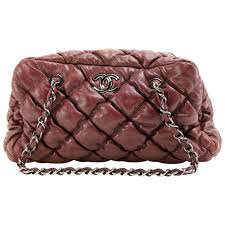 Chanel Dark Red Leather Bubble Quilt Bag For Sale at 1stdibs & Chanel Dark Red Leather Bubble Quilt Bag 1 Adamdwight.com