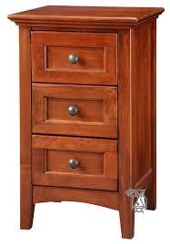 cherry wood nightstand. Alder Wood McKenzie 3 Drawer Narrow Nightstand In Glazed Antique Cherry Finish - 4 Options