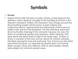 understanding modern realism fences ppt video online  symbols fences