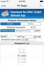 Hvac Pt Chart For Ios Free Download And Software Reviews
