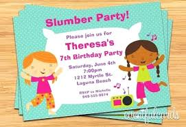 Elegant Sleepover Party Invitation Template Free For Free Sleepover