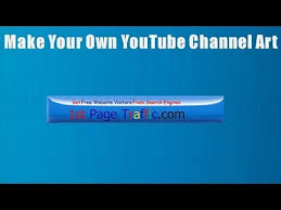 How To Make Your Own YouTube Channel Art - YouTube
