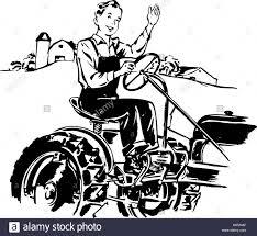 Man driving tractor retro clipart illustration stock image