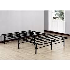 K&B Black Metal Queen-size Platform Bed Frame