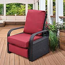 recliner chair slipcovers amazon art to real outdoor resin wicker patio recliner chair of recliner