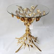 china coffee table side table end table gold glass metal