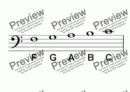 Abc Poster Notes Large Bass Clef Notes For Worksheets By Kevin Fairless Sheet Music Pdf File To Download