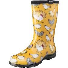 Sloggers Womens Rain Garden Chicken Print Boot 33
