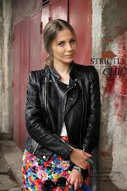 pencil skirt and leather jacket