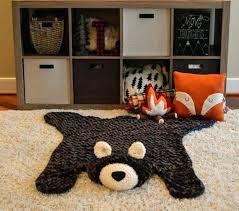 plush nursery rug bear fur faux by pink boy for extra la bear rug fake foot polar for nursery