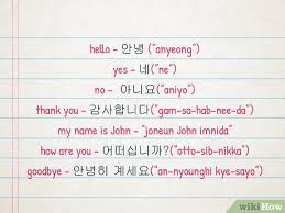 The web is full of awesome resources to help you refine your craft. How To Speak Korean 14 Steps With Pictures Wikihow
