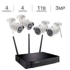 Q-See 4 Channel Wi-Fi NVR 3MP Camera 1TB Security System