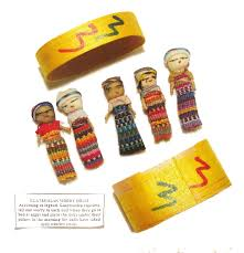 5x Large Guatemalan Worry Dolls in a BOX - Hand Made Mayan Trouble ...