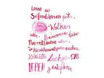 Lebensfreude Spruch Handgemalt Als Print Sprüche Poster Sprüche