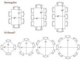 dining room table size for 10 awesome round dining table sizes 1 dining room table size