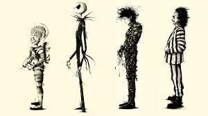 drawing ilration monochrome s cartoon fan art skeleton edward scissorhands tim burton mars s beetlejuice art