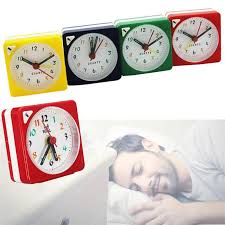 charminer mini travel alarm clock ogue quartz battery operated with snooze led light trip bed compact alarm clock hot alarm clocks alarm