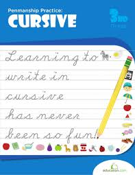 Penmanship Practice Cursive Workbook Education Com