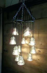 insulator lamp horse shoe antique glass insulator pendant chandelier light fixture glass art