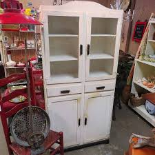 furniture oak jelly cabinet with glass doors