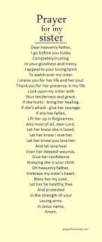 Prayer For My Sister Quotes Impressive For My Sister's