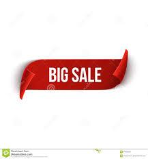 Big Sale Vector Ribbon Design Template. Banner Sale Tag. Market ...