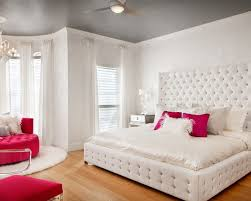 Bedroom Use White Wall Color And Grey Painted Ceiling For Teenage