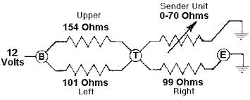 fuel gauge function fuel gauge circuit schematic