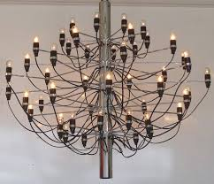 a timeless mid century modern 50 light gino sarfatti model number 2097 50 chandelier