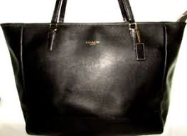 ... COACH-Black-SAFFIANO-LEATHER-Large-CITY-TOTE-Carryall-