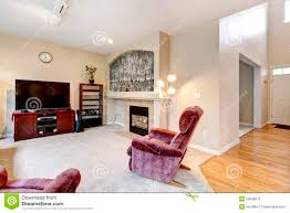 Large Chairs For Living Room Elegant Large Living Room Interior With Fireplace Tv And Pink