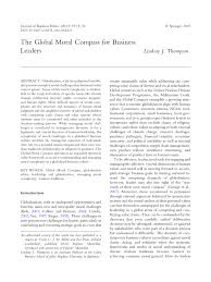 the global moral compass for business leaders pdf available